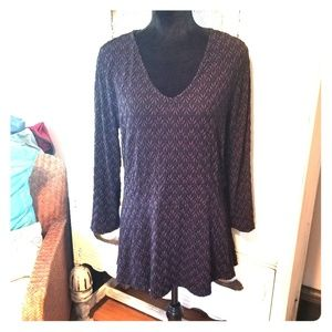 Purple and black plus size top
